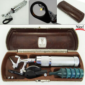 Vintage Welch Allyn Otoscope Ophthalmoscope Diagnostic Set In Case