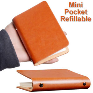 A7 Classic Loose Leaf Binder Pocket Notebook Small Diary Brown Memo Pad