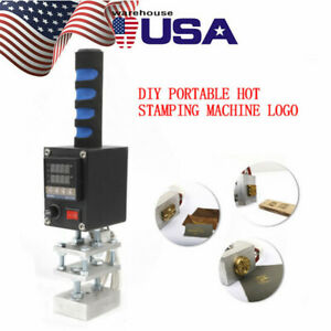 Leather Stamping Embossing Machine Handheld Hot Foil Stamping Press 110v 5cm 7cm