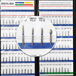 200 Dental Diamond Burs Ball Round High Speed Turbine Fg1 6mm For Handpiece