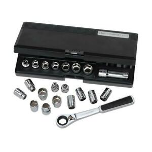 3 8 In Drive 6 point Gear Ratchet And Socket Set 21 piece