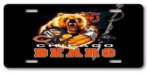 Chicago Bears Cool Funny All Aluminum Vanity License Plate Tag Gift Item Look