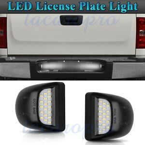 Led License Plate Light Lamp For Chevrolet Silverado Gmc Sierra 1500 2500 99 14