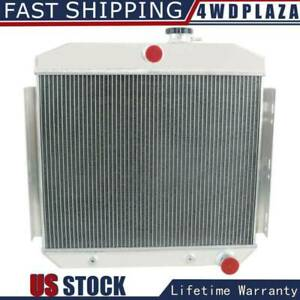 3 Row Aluminum Radiator For 1955 1957 Chevy Belair Bel Air 6cyl Core Support 56