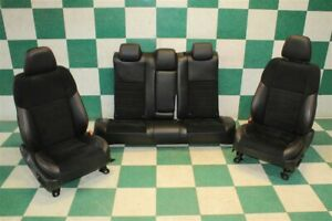 15 17 Camry Black Leather Suede Power Front Buckets Rear Backseat Bench Set Oem