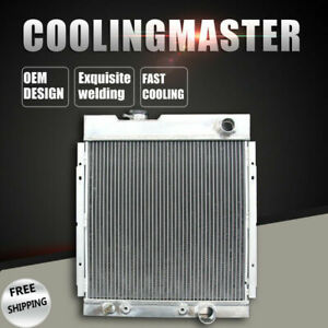 Fit 63 65 Ford Mustang Falcon 63 66 Mercury Comet V8 At 3row Aluminum Radiator