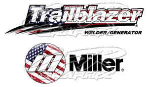Usa Flag Miller Welder Trailblazer Matte Decal Sticker Set Of 4 Decals