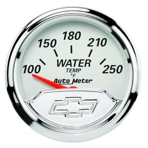 Auto Meter 1337 00408 Gauge Water Temp 2 1 16 For Chevy Heritage Bowtie New