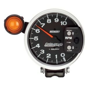 Auto Meter 233906 5 Autogage Pedestal Tachometer 0 10 000 Rpm Shift Light New