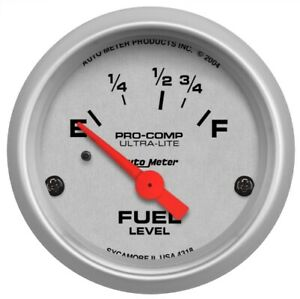 Auto Meter 4318 2 1 16 Ultra lite Electric Fuel Level 16 158 Ohm Air core New