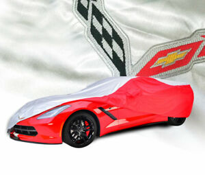 2014 2019 Corvette Red Silver Introguard Indoor outdoor Car Cover 698325x96