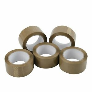 36 Rolls Carton Sealing Brown Packing shipping box Tape 2 5 Mil 2 X 110 Yards