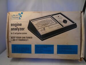 Vintage Sears Engine Analyzer 12 Volt 28 2161 W Original Box And Manual