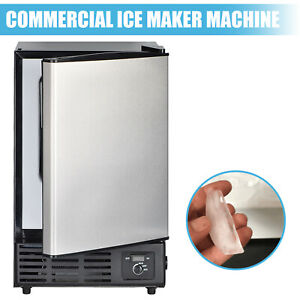 Portable Commercial Ice Maker Undercounter Built in Ice Machine With Freezer Us