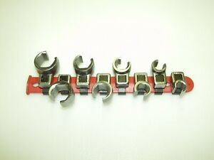 Matco 8 Pc 3 8 Dr Sae Flare Nut Crowfoot Line Wrench Set 3 8 To 13 16