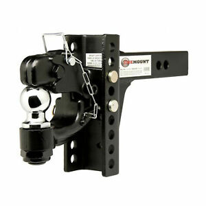 New One Mount 10015 Adjustable Pintle Mount With 2 5 16 Hitch Ball