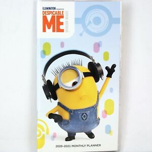 2020 2021 Despicable Me Minion Made 2 year Monthly Grid Pocket Planner
