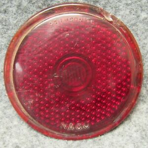 1946 1950 Jeep Stimsonite 1378 Red Glass Tail Light Lamp Lens Chipped 50522