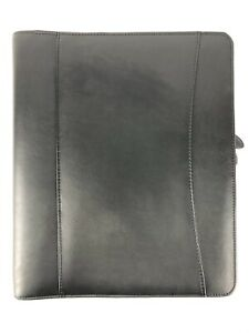 Franklin Covey Zipper Binder Large 8 5 X 11 Classic Starter Set Black Leather
