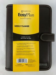 Franklin Covey Easy Plan Binder 5 5 X 8 5 Classic Starter Set Brown Leather