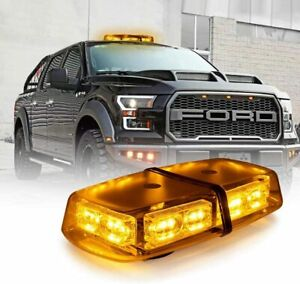 36led Roof Top Strobe Light Bar Amber For Truck Car Emergency Warning Flash 12v