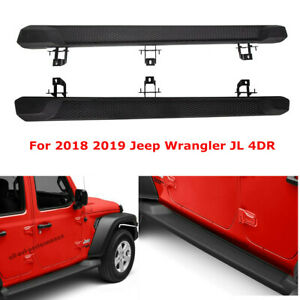 For 2018 2020 Jeep Wrangler Jl 4dr Nerf Bar Side Step Running Board Rail Abs