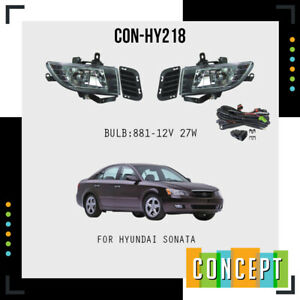 For 2006 2008 Hyundai Sonata Fog Lights Lamps With Assembly Set L r Side