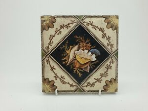 Antique Victorian Aesthetic Movement Printed Tile 12