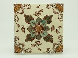Antique Victorian Aesthetic Movement Printed Tile 9