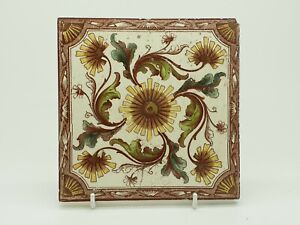 Antique Victorian Aesthetic Movement Printed Tile 10