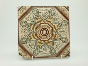 Antique Victorian Aesthetic Movement Printed Tile 5