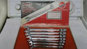 Vintage Snap On Flex Head Combination Wrench Set Fho 607 3 8 3 4 7 Pc New