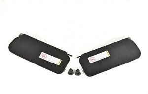 97 04 Corvette C5 Sunvisors Sun Visor Set Visors Black New