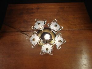 Mid Century Modern Wall Sconce Light Candle Flower Steck Jere Eames Era