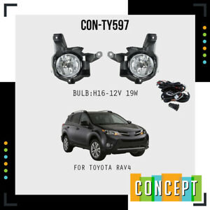 For 2013 2015 Toyota Rav4 Fog Lights Lamps And Assemby Set L r Side