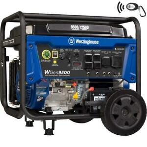 Westinghouse 12 500 w Portable Gas Powered Generator With Remote Electric Start