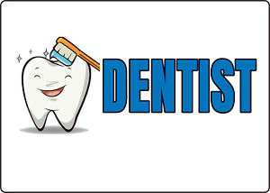 Dentist Office Sign Business Storefront Window Adhesive Vinyl Sign Decal