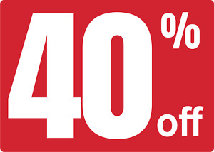 Retail Store Storefront Window Store Sale 40 Off Adhesive Vinyl Sign Decal