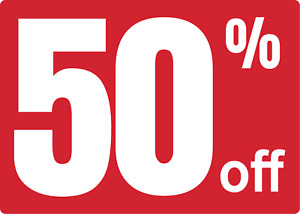 Retail Store Storefront Window Store Sale 50 Off Adhesive Vinyl Sign Decal