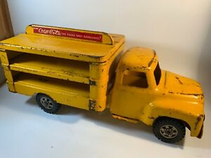 1955 Buddy L Pressed Steel Coca Cola Delivery Truck #5536 International 14""