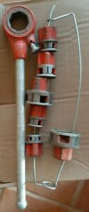 Rigid No 11 R Ratcheting Pipe Threader And 6 Dies Usa Made