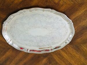 Sheffield Silver Plated Chippendale Serving Tray
