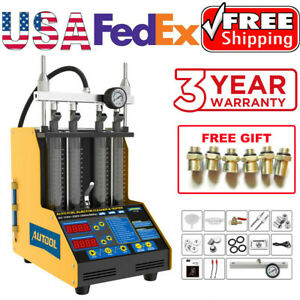 Petrol Car Motorcycle Fuel Injector Tester Cleaner Ultrasonic Cleaning Machine