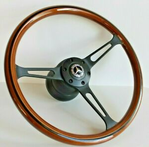 Steering Wheel Mercedes Benz Wood Classic W123 W124 W126 W201 R107 W116 1978 92