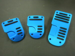 Universal Pedal Cover Blue black Manual 3pcs set