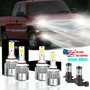 For Gmc Sierra 1500 2500 Hd 3500 2003 04 2005 2006 Led Headlight Fog Light Bulbs