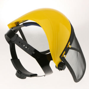 2 X Safety Face Shield With Mesh Visor For Chainsaw Trimmer Pole Pruner