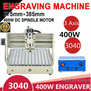 400w 3 Axis 3040 Router Engraver Milling Carving Machine Woodworking Cutter