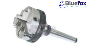 3 Jaw 65mm Self centering Chuck Small With Mt3 Mounting Shank Arbor Lathe