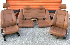 07 13 Oem Bmw E92 Coupe Front Saddle Brown Sport Leather Power Seats Oem